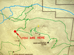 Rock Climbing Photo: This is the map at the Deer Mountain junction trai...