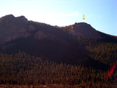 Rock Climbing Photo: This is the north face of Deer Mountain.  The larg...