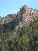 Rock Climbing Photo: This is a chunk of rock above the main Deer Ridge ...