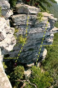 Rock Climbing Photo: Face the Roof route, from above