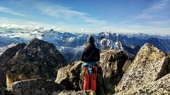 Rock Climbing Photo: At the top of South Early Winters Spire in Washing...