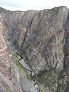 Rock Climbing Photo: A view of the approach with the SOB and river's ed...
