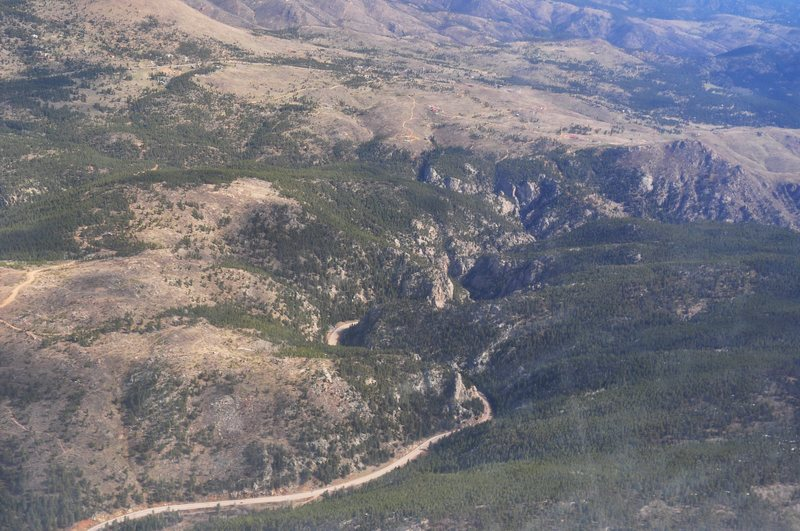 The Narrows of Boulder Canyon (starting with Cob Rock) as seen from just above....
