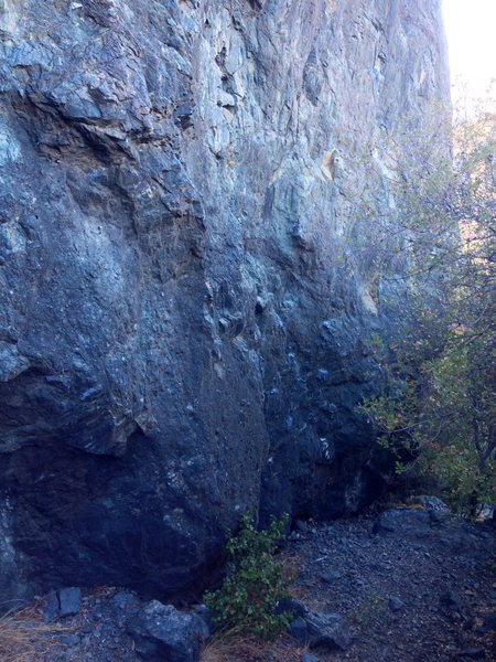 Rock Climbing Photo: The start of Metamorphosis; line on the right side...