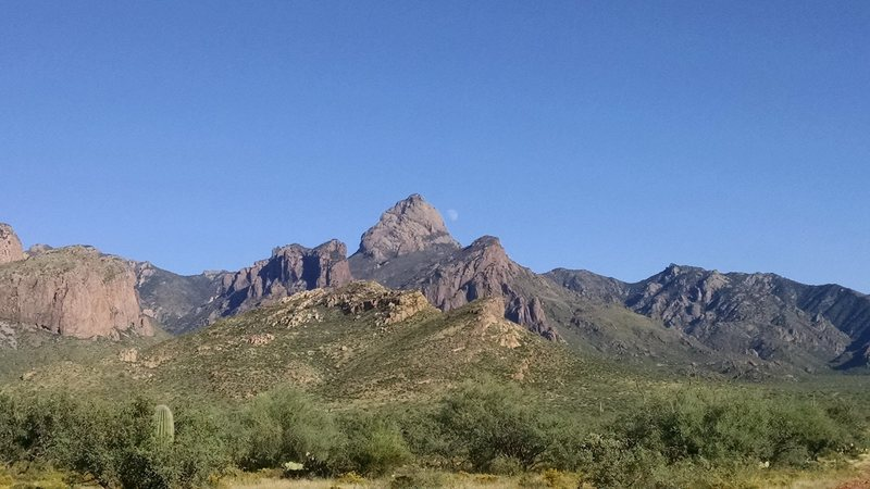 Rock Climbing Photo: Baboquivari from the northwest, looking southeast.
