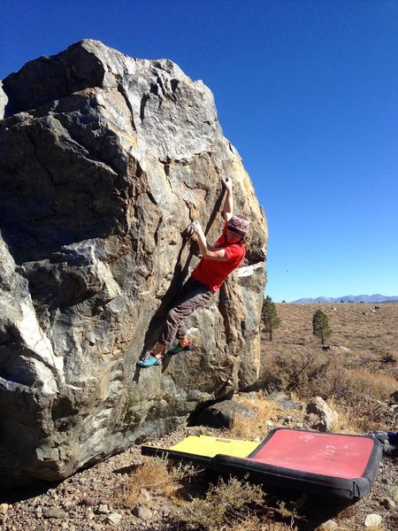 Rock Climbing Photo: Moving on passed the bomber hold on Aspen Wall