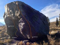 Rock Climbing Photo: Aspen Boulder South Face Topo