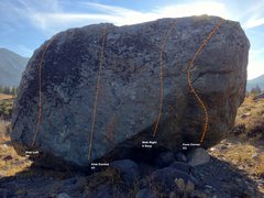 Rock Climbing Photo: Aspen Boulder East Face Topo