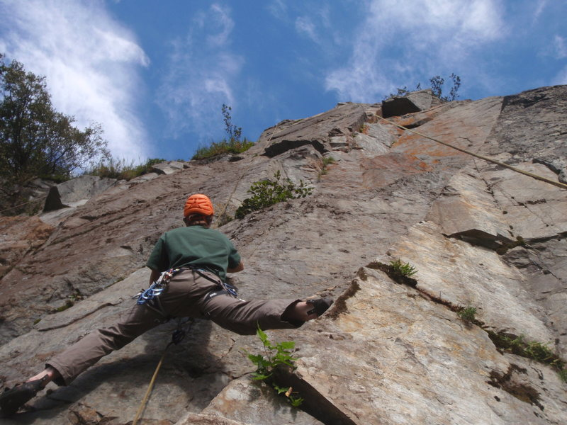 Rock Climbing Photo: Pat checking out new route potential at Panoram Po...