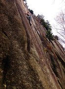Rock Climbing Photo: Just past the first crux on 'Caveat Emptor&#39...