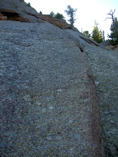Rock Climbing Photo: This shows some of the terrain from ~60' up on the...