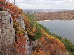 Rock Climbing Photo: Stewart Korte of the HWDAMF  Photo by Jim