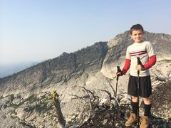 Rock Climbing Photo: My son on the ridge above Beehive Lake in northern...