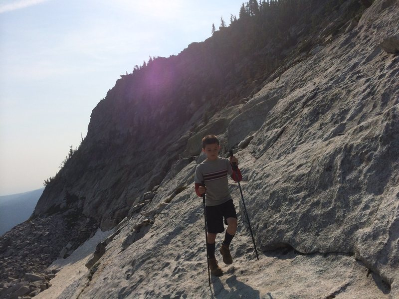 Rock Climbing Photo: Late summer snow patch
