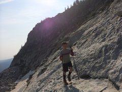 Rock Climbing Photo: Late summer snow patch