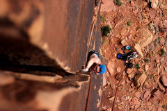 Rock Climbing Photo: Workin them handjams on the upper section of Cat G...