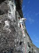 Rock Climbing Photo: The Man on the Mountain.  Mark Lassiter leading P6...