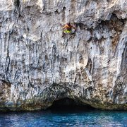 Rock Climbing Photo: Deep Water Soloing off Olympos.
