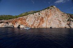 Rock Climbing Photo: Deep Water Soloing crag off Olympos.