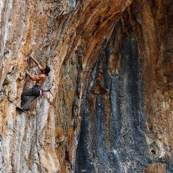 Climbing in Horguc.