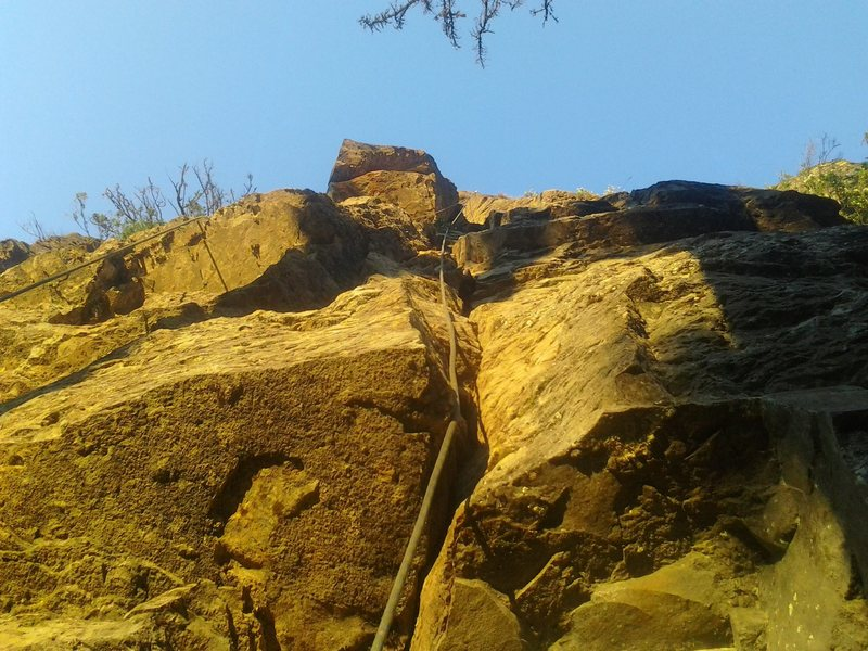 Contemplating the crux.