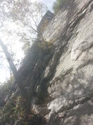 Rock Climbing Photo: The 'Pillar' in Red Pillar. Starts with a scrambly...