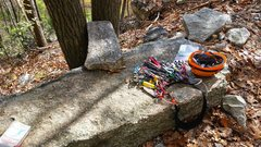 Rock Climbing Photo: If you see this distinctive rock next to the trail...