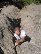 Rock Climbing Photo: Steve Wolford photo of Bill Coe leading this route...