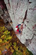 Rock Climbing Photo: Mike Ridenhour on Charybdis. October 2014.