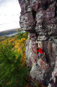 Rock Climbing Photo: Darin Limvere on Bucket Brigade. Oct. 2014.