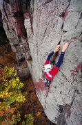 Rock Climbing Photo: October climbing at Devils Lake. Mike Ridenhour on...
