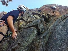 "Rock Climbing Photo: Pete taking the ""left"" version on Desert..."