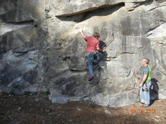 Rock Climbing Photo: This is a little further left than I like to be bu...