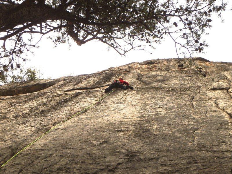 Rock Climbing Photo: Jules Lines on-sighting Terra Firma Homesick Blues...