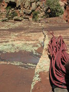 Rock Climbing Photo: A view from the mid-point anchor - locker fingers!...