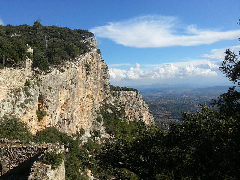 Rock Climbing Photo: The view from the castle