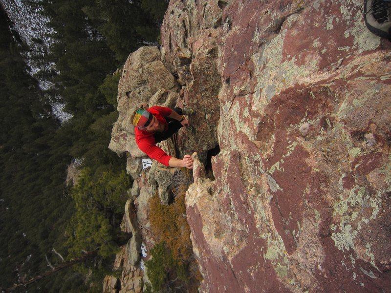 Rock Climbing Photo: Jason A. hits the final bulge (would be hard if no...