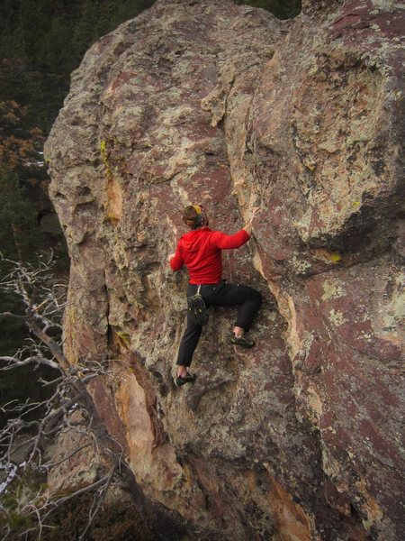 Rock Climbing Photo: Jason A. in one of the other cruxes of The Tongue ...