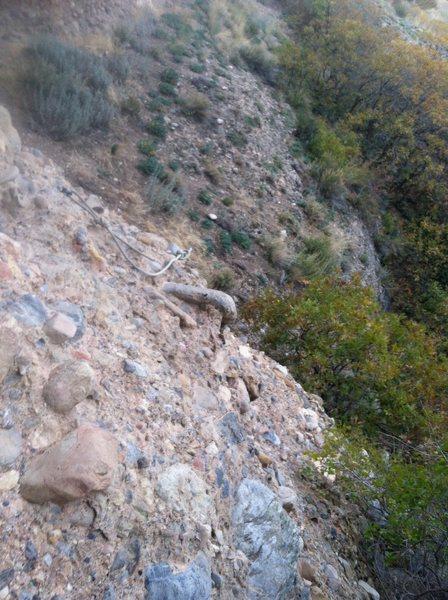 "Rock Climbing Photo: The slab section below ""brine shrimp"" re..."