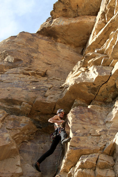 Rock Climbing Photo: Me in the corner system about to place a #2 cam in...
