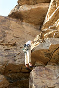 Rock Climbing Photo: Mike Santoro pulling the small roof to gain the le...