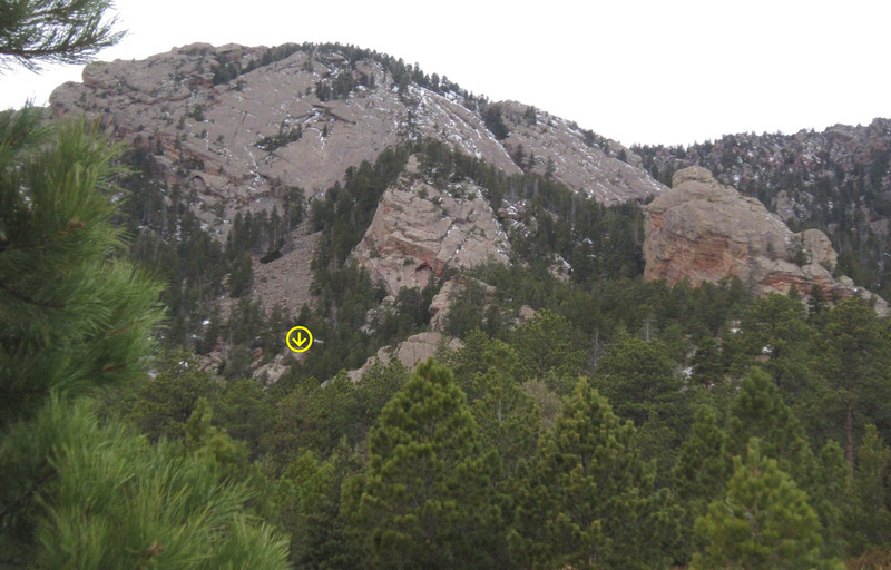 I believe Chimera is the highlighted rock in this photo, but I am posting it 2 years after I took the image....
