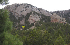 Rock Climbing Photo: I believe Chimera is the highlighted rock in this ...