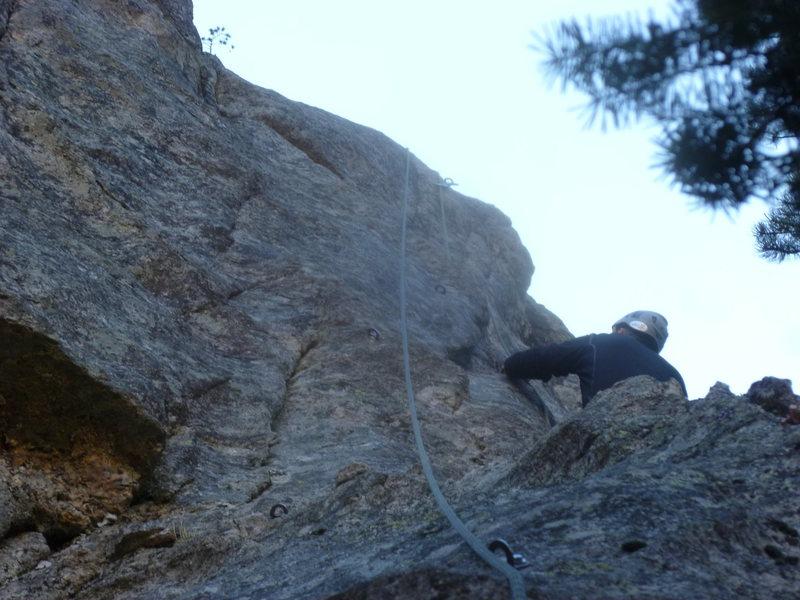 Rock Climbing Photo: Brian near the start.