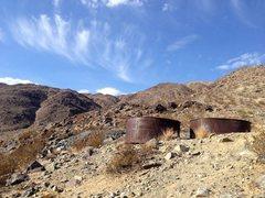 Rock Climbing Photo: Mining relics along Fried Liver Wash, Joshua Tree ...