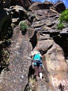 Rock Climbing Photo: Kaylie just starting Ron Love Verly