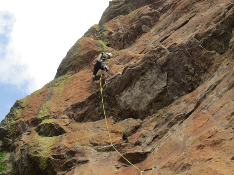Bob Ratliff above the first crux.