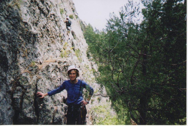 Rock Climbing Photo: Judy at base of El Rito