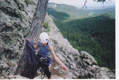 Rock Climbing Photo: Judy coiling rope