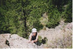 Judy near top of climb